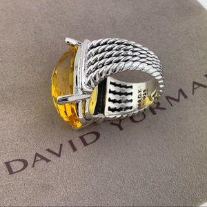 David Yurman Jewelry - David Yurman Oval Lemon Citrine Diamond Ring